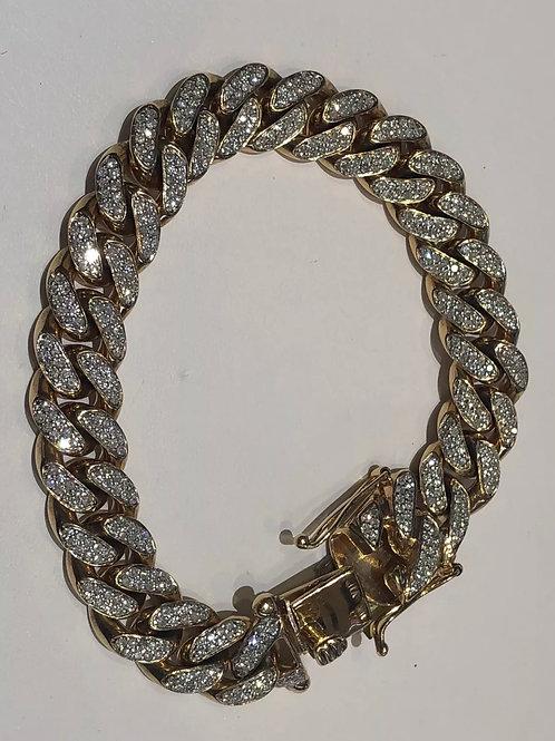 10K 6 carat Miami Cuban diamond bracelet