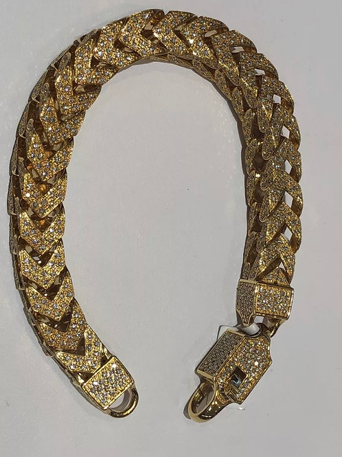 10K diamond Franco bracelet 8 carats