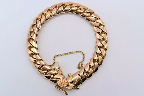 Miami Cuban 18K Rose Gold Bracelet 78.5g