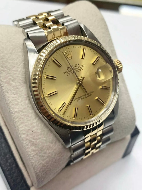 Rolex Datejust two tone 16013 18k stainless steel