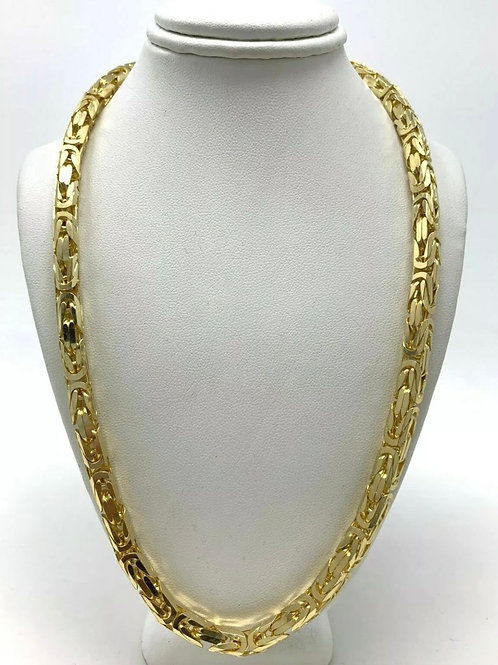 "14k Yellow Gold Byzantine Necklace 18"" 5.7mm 88.2 grams"