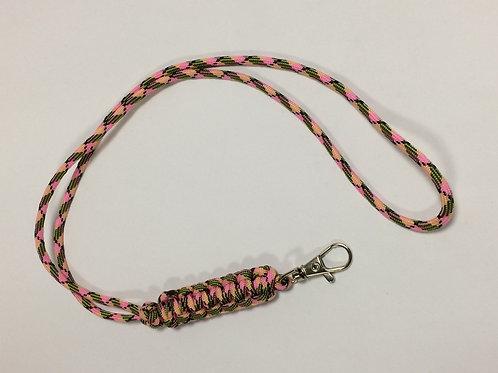 Paracord Neck Lanyard Pink Camo (Cobra)