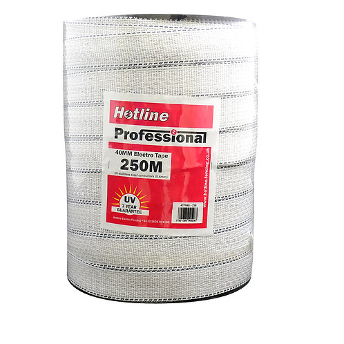 Professional 250 meters 40mm Tape White