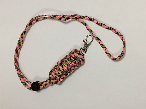 Paracord Neck Lanyard Pink Camo (King Cobra)
