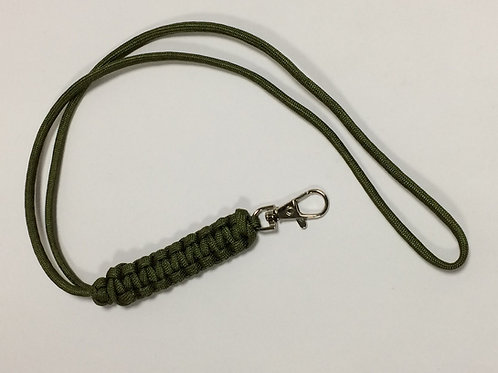 Paracord Neck Lanyard Green (King Cobra)