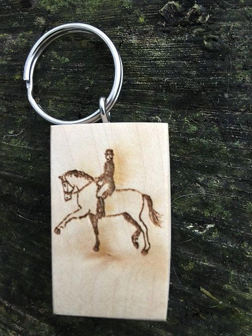 Engraved Wooden Keyring Horse