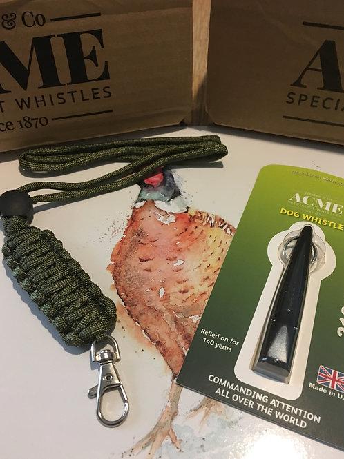 Acme 210.5 Whistle with King Cobra Lanyard Green