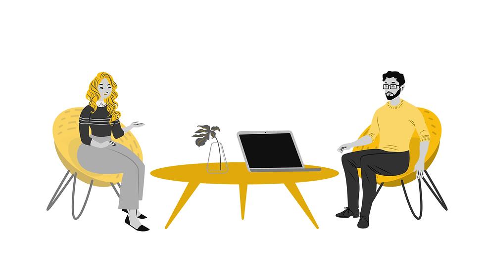 מתאמת נסיעות עסקיות אונליין עם איש עסקים