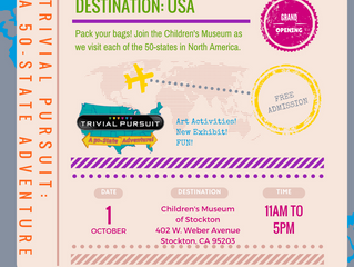 Trivial Pursuit: A 50-State Adventure Grand Opening (free admission) Oct. 1, 2017 11am-5pm