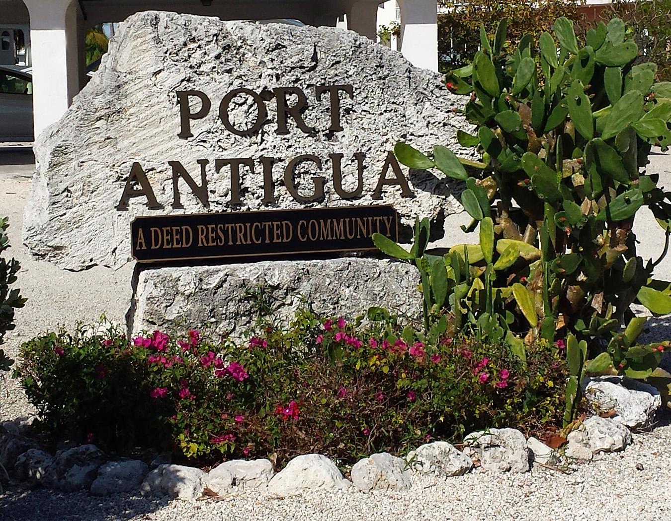 Port Antigua Sign