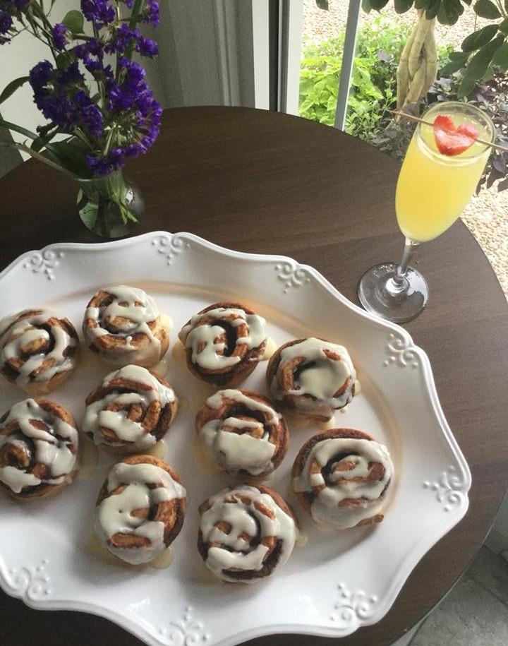 Mimosa & Homemade Cinnamon Rolls