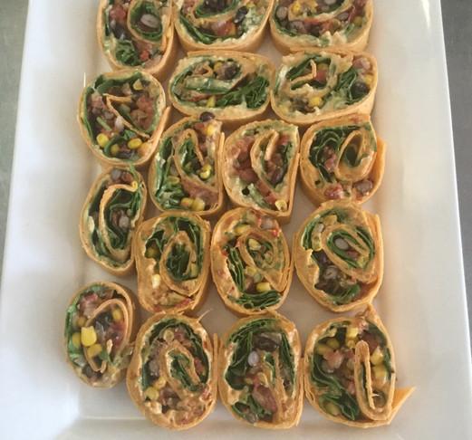 Hummus & Roasted Vegetable Pinwheels
