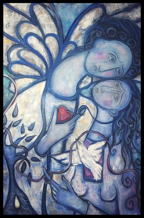 Angel in blues