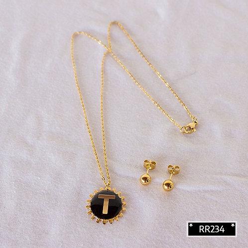 RR241T Collar y Topitos letra T