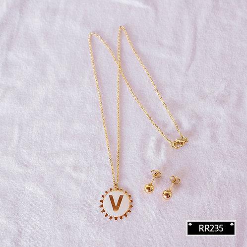 RR250V Collar y Topitos letra V