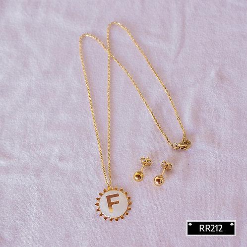 RR250F Collar y Topitos letra F