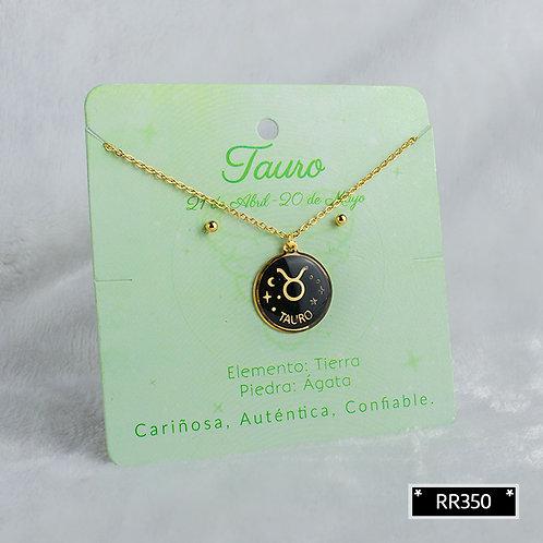 RR350 Set Topos y Collar Signo del Zodiaco-Tauro