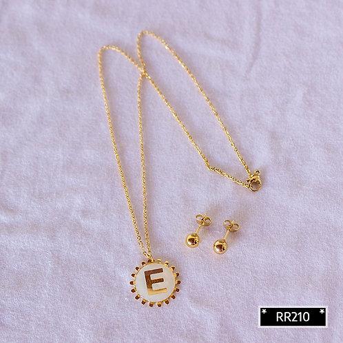 RR250E Collar y Topitos letra E