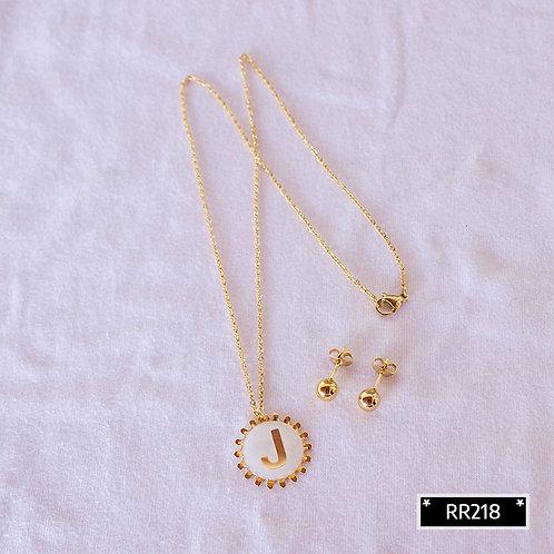 RR250J Collar y Topitos letra J