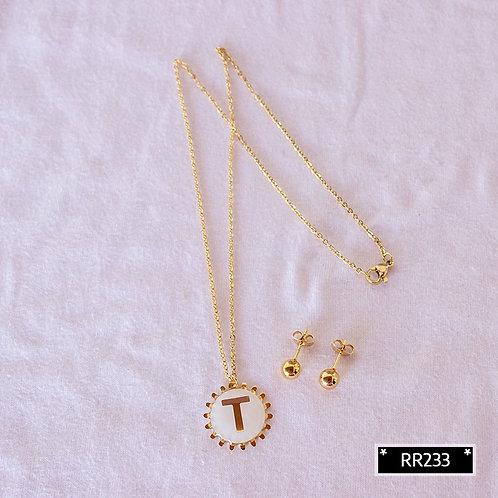 RR250T Collar y Topitos letra T