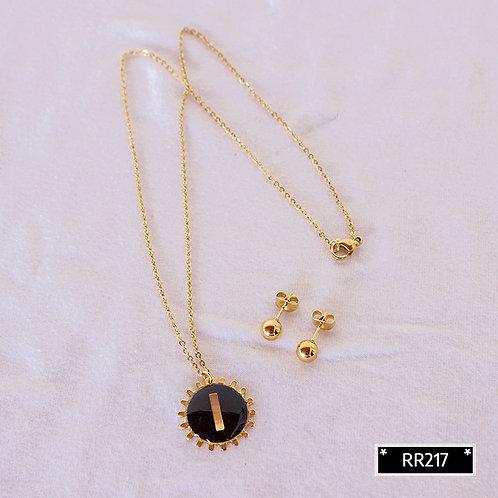 RR241I Collar y Topitos letra I