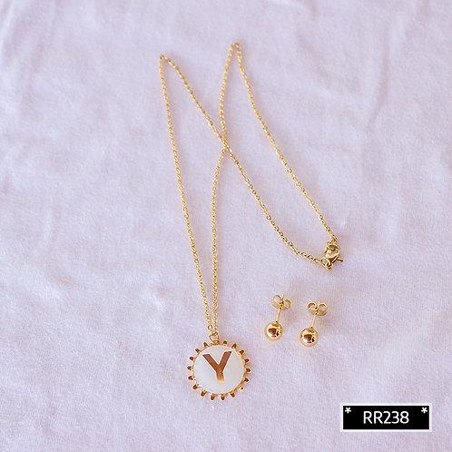 RR250Y Collar y Topitos letra Y