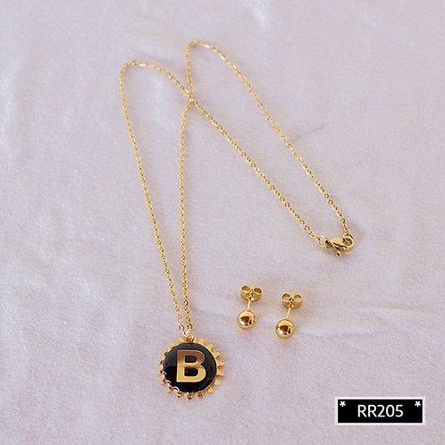 RR241B Collar y Topitos letra B