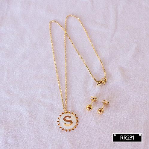 RR250S Collar y Topitos letra S