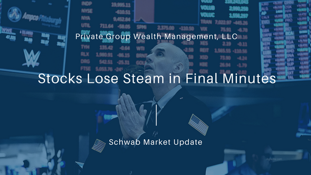 Stocks Lose Steam in Final Minutes