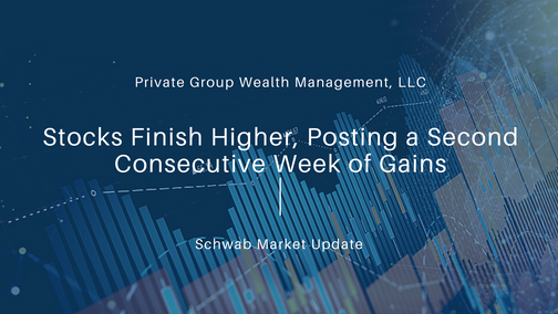 Stocks Finish Higher, Posting a Second Consecutive Week of Gains