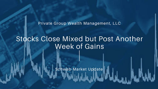 Stocks Close Mixed but Post Another Week of Gains