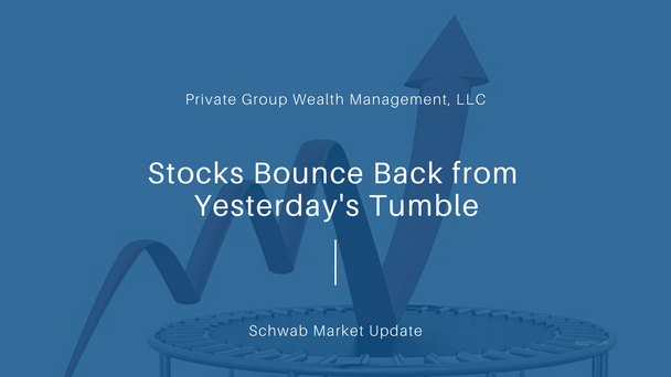 Stocks Bounce Back from Yesterday's Tumble