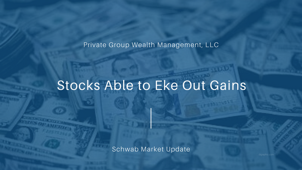 Stocks Able to Eke Out Gains