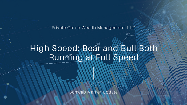 High Speed: Bear and Bull Both Running at Full Speed