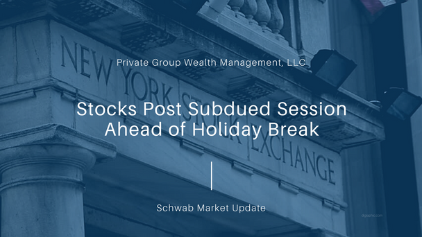 Stocks Post Subdued Session Ahead of Holiday Break