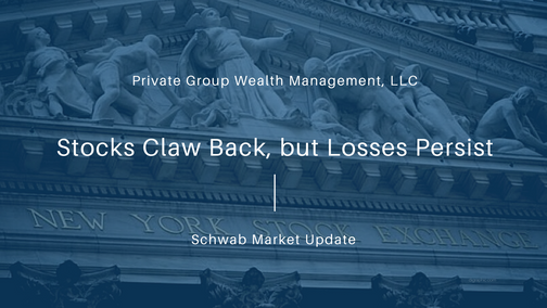 Stocks Claw Back, but Losses Persist