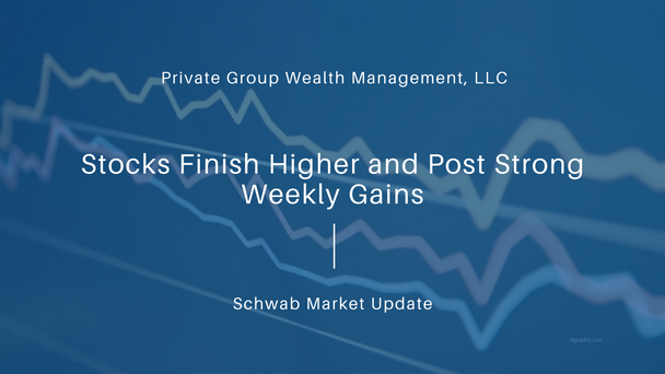 Stocks Finish Higher and Post Strong Weekly Gains