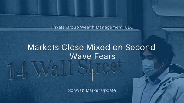 Markets Close Mixed on Second Wave Fears