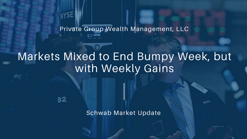 Markets Mixed to End Bumpy Week, but with Weekly Gains