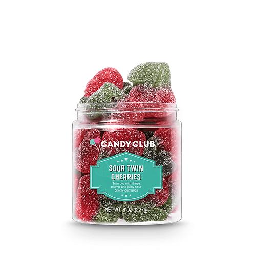 Sour Twin Cherries 8oz - Candy Club