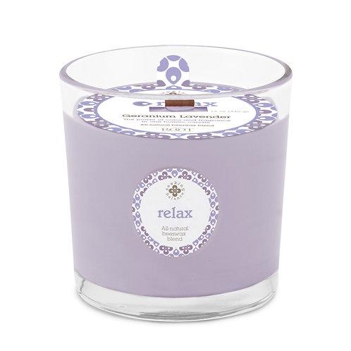 Relax - Geranium Lavender - Root Candle