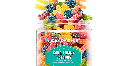Sour Gummy Octopus 6oz - Candy Club