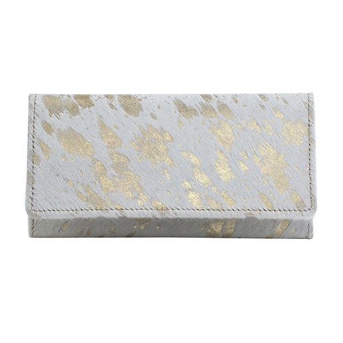 Golden Terrazzo Leather & Hairon Wallet - Myra Bag