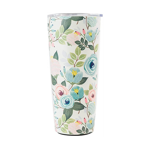 Peach Floral Large Tumbler - Mary Square