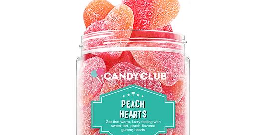 Peach Hearts 7oz - Candy Club