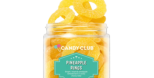 Pineapple Rings 6oz - Candy Club