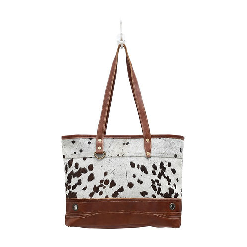 Combined Leather & Hairon Bag - Myra Bag