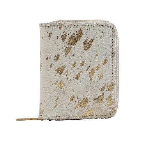 Sneaky Golden Leather & Hairon Wallet - Myra Bag
