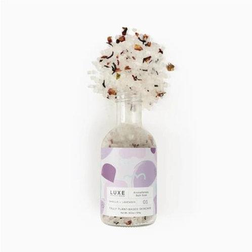 Vanilla + Lavender Aromatherapy Bath Salt Soak - Cait + Co