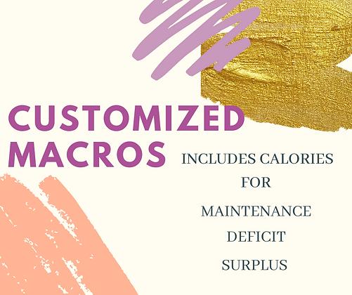 Custom Calories & Macros